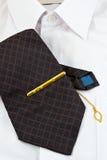 белизна рубашки галстука Стоковое Изображение