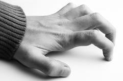 белизна руки предпосылки Стоковые Фотографии RF