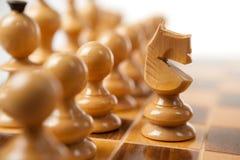 белизна рыцаря шахмат Стоковая Фотография RF