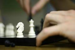 белизна рыцаря шахмат Стоковые Изображения RF