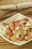белизна салата лука фасоли бекона стоковая фотография rf