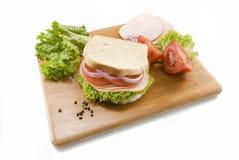 белизна сандвича хлеба стоковые изображения rf