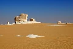 белизна Сахары образований Египета пустыни Стоковые Изображения RF