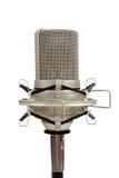 белизна сбора винограда микрофона предпосылки Стоковое фото RF