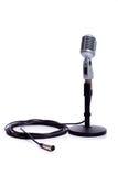 белизна сбора винограда микрофона Стоковое Фото