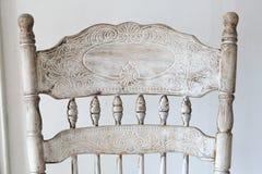 белизна сбора винограда путя стула изолированная клиппированием стоковые изображения rf