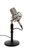 белизна сбора винограда тесемки микрофона предпосылки Стоковая Фотография RF