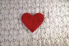 белизна сбора винограда текстуры ткани Стоковые Фото
