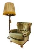 белизна светильника пола кресла роскошная старая Стоковые Фото