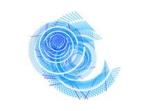 белизна свирли абстрактной предпосылки голубая иллюстрация вектора
