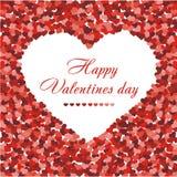 белизна сердец confetti предпосылки красная иллюстрация штока