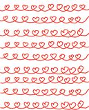 белизна сердца предпосылки красная Стоковое Изображение RF
