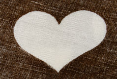 белизна сердца Стоковое фото RF
