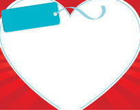 белизна сердца Стоковое Изображение RF