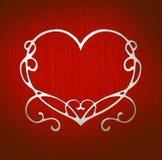 белизна сердца Стоковая Фотография RF