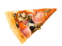 белизна серии пиццы изображения быстро-приготовленное питания предпосылки Стоковое Фото