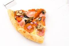 белизна серии пиццы изображения быстро-приготовленное питания предпосылки Стоковые Изображения RF
