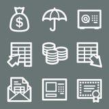 белизна сети икон банка иллюстрация вектора