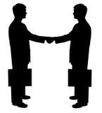 белизна силуэта чернокожего человек Стоковая Фотография RF
