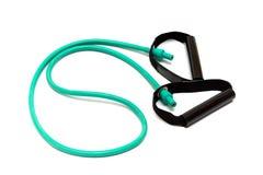 белизна силы тренировки aerobics резиновая Стоковая Фотография RF