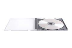 белизна случая изолированная dvd стоковая фотография rf