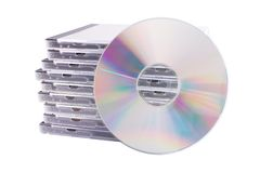 белизна случая изолированная dvd стоковые фотографии rf