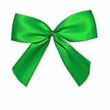 белизна смычка изолированная зеленым цветом Стоковое Изображение RF