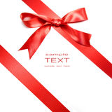 белизна смычка изолированная праздником красная Стоковое Изображение