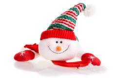 белизна снеговика предпосылки изолированная рождеством Стоковые Изображения RF