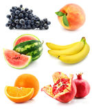 белизна собрания изолированная плодоовощ Стоковые Фотографии RF