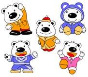 белизна собрания шаржа медведя иллюстрация штока