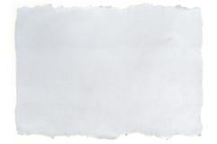 белизна сорванная бумагой Стоковые Фото