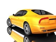 белизна спорта автомобиля Стоковое Изображение