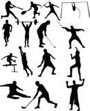 белизна спорта предпосылки изолированная собранием Стоковое Фото