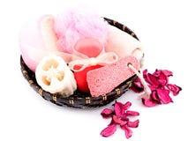 белизна спы принципиальной схемы розовая Стоковые Фото