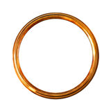 белизна старого изображения рамки золотистая изолированная круглая Стоковое Изображение RF