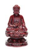 белизна статуи Будды изолированная figurine стоковое изображение rf