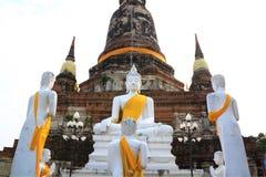 белизна статуи Будды Стоковые Фотографии RF
