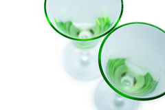 белизна стекел зеленая прозрачная Стоковое Фото