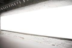 белизна стены знамени пустая Стоковые Фото