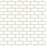 белизна стены кирпича безшовная Стоковое Изображение RF