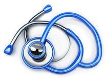 белизна стетоскопа аппаратуры доктора предпосылки Стоковые Фото