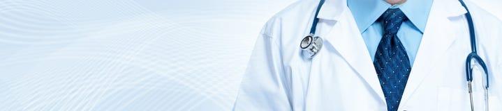 белизна стетоскопа предпосылки изолированная доктором медицинская излишек Стоковая Фотография RF