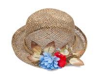 белизна сторновки шлема цветка Стоковая Фотография RF