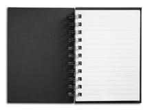 белизна страницы тетради одиночная вертикальная Стоковое Фото