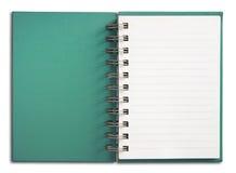 белизна страницы тетради одиночная вертикальная Стоковое фото RF