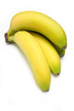 белизна студии бананов предпосылки Стоковое Изображение