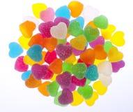 белизна студня сердца предпосылки цветастая Стоковое Изображение RF