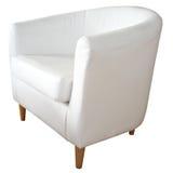 белизна стула кожаная Стоковое Фото
