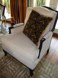 белизна стула Стоковые Изображения RF